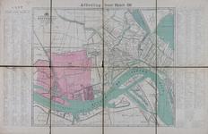 1978-3101 Plattegrond van Rotterdam en omgeving waarop in kleur de brandweerdistricten 21 t/m 23 zijn aangegeven
