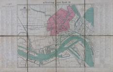1984-1612 Plattegrond van Rotterdam en omgeving waarop in kleur de brandweerdistricten 8 t/m 11 en 15 t/m 17 zijn aangegeven
