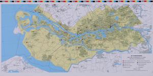 1989-658 Overzichtskaart van het meetnet van de Dienst Centraal Milieubeheer Rijnmond.