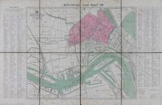 1994-130 Plattegrond van Rotterdam en omgeving waarop in kleur de brandweerdistricten 14 t/m 17 zijn aangegeven
