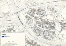 1999-543 Plattegrond met 30 uitlaatzones in de deelgemeente Hoogvliet