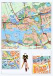 1999-547 Kaart van Rotterdam met verwijzingen naar de vestigingen in het Stadstimmerhuis en het Groothandelsgebouw van ...