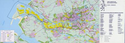 2001-15 Kaart van Rotterdam en omgegeving met alle CBS-buurten