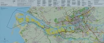 2001-16 Kaart van Rotterdam en omgeving met vermedling van de stadswijken- en buurten