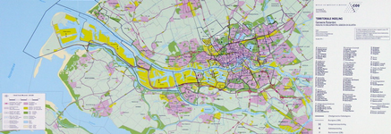 2001-17 Kaart van Rotterdam en omgegeving met alle CBS-buurten
