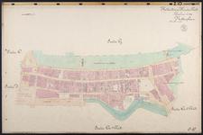 40110-Z10 Kadastrale kaart van Rotterdam, sectie Q, 2e blad: het gebied rond de Schiedamschedijk. Het gebied wordt ...