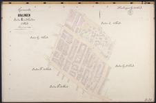 40110-Z21 Kadastrale kaart van Kralingen, sectie G, 2e blad: Kralingen ten noorden van de Lusthofstraat. Het gebied ...