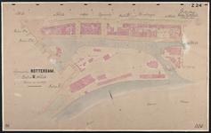 40110-Z24 Kadastrale kaart van Rotterdam, sectie U, 3e blad: rond het Boerengat. Het gebied wordt begrensd door de ...