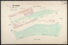 40110-Z25 Kadastrale kaart van Rotterdam, sectie U, 4e blad: rond het Buizengat. Het gebied wordt begrensd door de ...