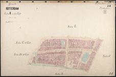 40110-Z8 Kadastrale kaart van Rotterdam, sectie K, in een blad: het noordelijke deel van de stadsdriehoek: het gebied ...