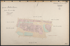 40110-Z9 Kadastrale kaart van Rotterdam, sectie O, in een blad: Nieuwland. Het gebied wordt begrensd door de ...