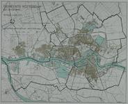 I-218 Kaart van Rotterdam en omgeving met met een indeling in districten en wijken