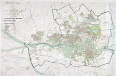 I-249 Kaart van Rotterdam en omgeving met met een indeling in districten en wijken