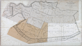 XXX-40 Kaart van een deel van de polder Prins Alexander in de gemeenten Hillegersberg, Zevenhuizen, Capelle aan den ...