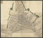 RT-D-2-18 Kaart op basis van de plattegrond van Rotterdam van L.F. Temminck waarop de nieuw gemaakte singel zijn ...