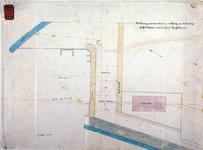 RT-G-FN223 Tekening van de ontworpen riolering en bestrating op het terrein voor de Gemeente Gasfabriek in de wijk ...