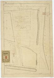 RT-V-466-4 Situatieplan van een te bouwen school aan de Hugo de Grootstraat. In de omgeving: Lange warande, ...