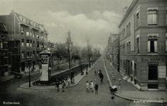 PBK-161 Avenue Concordia gezien uit het zuiden, vanaf de Lage Oostzeedijk. Aan de westzijde de Gereformeerde Avenuekerk.