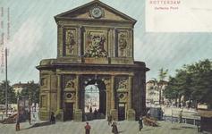 PBK-1793 De Delftse Poort en omgeving, gezien vanaf het Delftsepoortplein, in de richting van de Rotterdamse Schie, ...