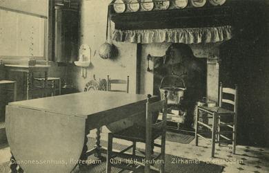 PBK-2005-285 Een Oud Hollandse keuken (zitkamer van de dienstboden) in het Diakonessenhuis aan de Westersingel.