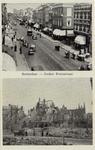 PBK-3250 Prentbriefkaart met twee afbeeldingen.Afbeelding boven: Jonker Fransstraat, gezien uit het zuiden. Afbeelding ...