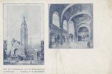 PBK-658 De kathedrale kerk van de H.H. Laurentius en Elizabeth. Voor dit kerkgebouw werd op 1 april 1907 de eerste ...