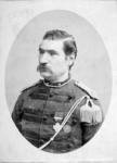 P-003808 Portret van Christoffel Bruynzeel, adjudant - onderofficier van het Korps Koninklijke Scherpschutters. Van ...