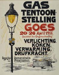 VII-1953-0030 Gastententoonstelling Goes. 20 - 26 April 1914. Societeit Van Ongenuchten Vrij . Verlichting, koken, ...