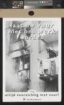 XXX-1995-1183 Laat uw vuur niet ons werk worden. Altijd voorzichtig met vuur! Uw Brandweer.