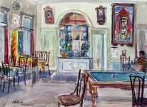 1970-6 Een caféinterieur.