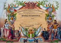1971-1276 Oorkonde bij prijsuitreiking tijdens Nationale Schietwedstrijd georganiseerd door de Vereeniging tot ...