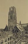 1973-640 Grote Kerk aan de Sint-Laurensstraat, uit het westen.