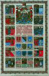 1975-611 1923Jubileumplaat 25-jarige regering koningin Wilhelmina.Wapen van Nederland met daaronder de naam van ...
