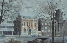 1976-1854 Het Gemeentearchief aan de Mathenesserlaan gezien vanuit het zuidwesten.
