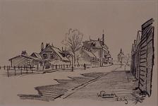 1985-1612 De Oostmaaslaan met op de achtergrond de watertoren van de Gemeentelijke Drinkwaterleiding (DWL) gezien ...