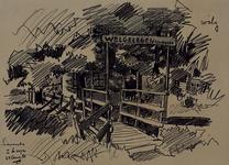 1985-1627 Bruggetje aan de Nesserdijk. De brug is vernoemd naar het Huis Welgelegen.