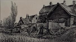 1985-1631 Woningen onderaan de Nesserdijk.