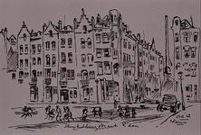 1985-1635 De Sleephellingstraat met de hoek van de Hendriklaan, gezien vanuit noordelijke richting.