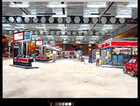 1987-2471 Esso benzinestation op het deel 's-Gravendijkwal naar de Maastunnel toe, tussen Rochussenstraat en ...