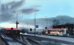 2000-146 Gezicht op het deel 's-Gravendijkwal tussen Droogleever Fortuynplein en Rochussenstraat ter hoogte van het ...