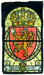 2000-235 Het wapen van Noorwegen. Voorstudie voor het koepelraam van de centrale hal van het stadhuis (Coolsingel) te ...