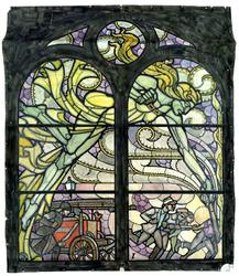 2000-258 'Brandweer' als strijd tegen de furiën. Voorstudie voor een raam op de begane grond in de centrale hal in het ...