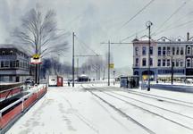 2008-536 Het Eendrachtsplein in de sneeuw.