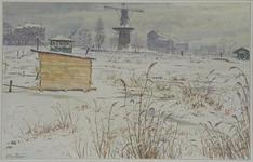 IX-2266-10 Gezicht op het Oostplein met op de achtergrond de molen vanaf de Slaak, uit het noordoosten.