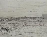 IX-2552-18-2 Overzicht van de Prins Alexanderpolder met stratenaanleg. Met geheel rechts het Bejaardenflat en geheel ...