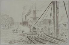 IX-962-21 Gezicht op het Oostplein vanaf de Goudsesingel.