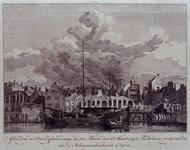 RI-1354-1 12 maart 1779. Gezicht op de overblijfselen van enkele woon- en pakhuizen aan de achterzijde van de Boompjes, ...