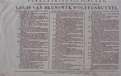 RI-1389 1784Begrafenis van de hertog van Louis van Brunswijk Wolffenbuttel, met een verklaring.