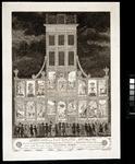 RI-1442-I 8 maart 1788Afbeelding van de illuminatie en decoratie van het huis der Oprechte Vaderlandse Sociëteit op het ...