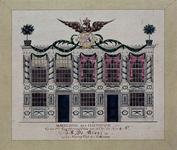 RI-1443 8 maart 1788Illuminatie voor het huis van mr. J.G. de Groot aan het Haringvliet ter gelegenheid van de ...